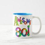 80 T-shirts et cadeaux impressionnants Mug Bicolore