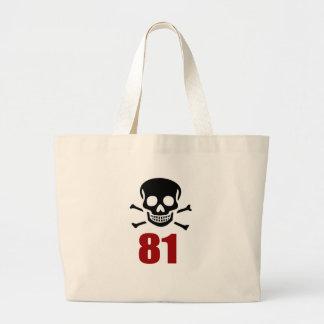 81 conceptions d'anniversaire grand tote bag