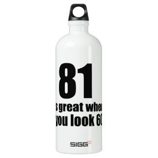 81 est grand quand vous regardez l'anniversaire bouteille d'eau en aluminium