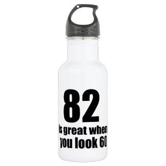 82 est grand quand vous regardez l'anniversaire bouteille d'eau en acier inoxydable