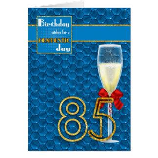 85th anniversaire - carte d'anniversaire