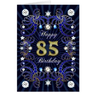 85th carte d'anniversaire avec les masses des