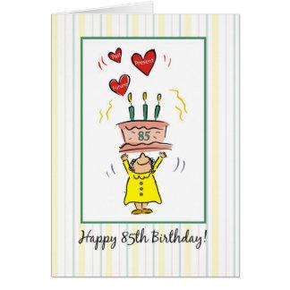 85th Carte d'anniversaire pour une femme, humour