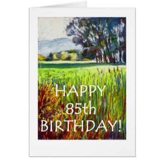 85th Carte d'anniversaire - soirée dans les prés
