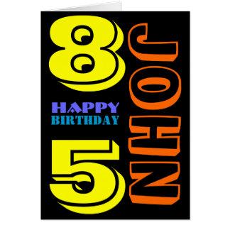 85th carte de voeux personnalisée d'anniversaire