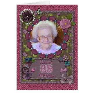 85th Carte photo pour un anniversaire
