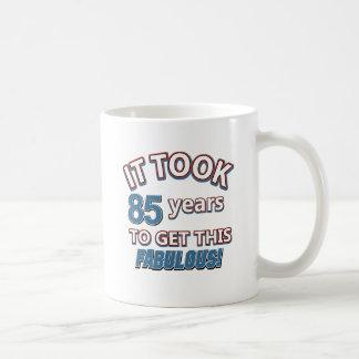 85th conceptions d'anniversaire d'année mug