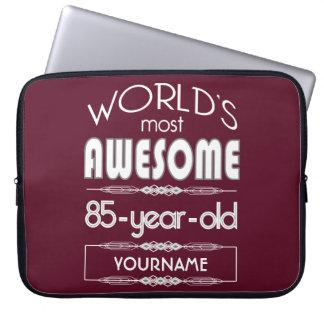 85th D anniversaire des mondes rouge foncé Housse Pour Ordinateur Portable