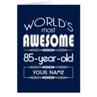 85th D'anniversaire des mondes bleu-foncé fabuleux Cartes