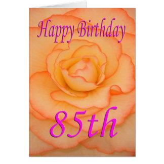 85th fleur heureuse d'anniversaire cartes
