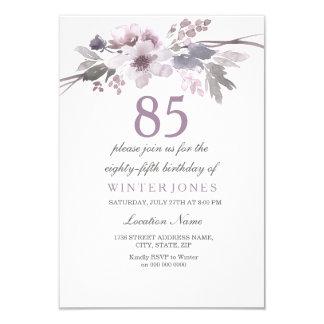 85th invitation floral assez pourpre de fête