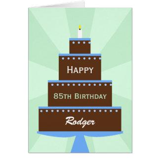 85th Nom de coutume de carte d'anniversaire