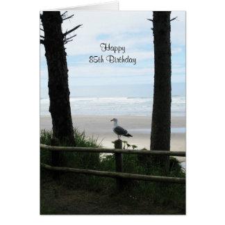 85th Vue d'océan de cartes d'anniversaire
