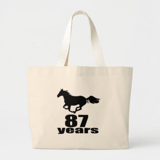 87 ans de conceptions d'anniversaire grand tote bag