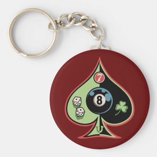 8 de pelles porte-clés