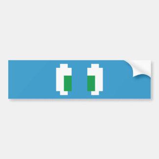 8 yeux verts de Manga de pixel de bit Autocollant Pour Voiture