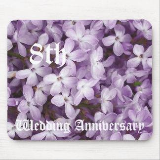8ème anniversaire de mariage - lilas tapis de souris