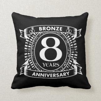 8ème bronze d'anniversaire de mariage coussin décoratif
