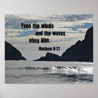 8h27 de Matthew même les vents et les vagues Affiches