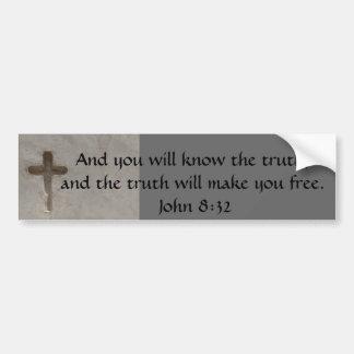 8h32 inspiré de John de VÉRITÉ de vers de bible Autocollant Pour Voiture