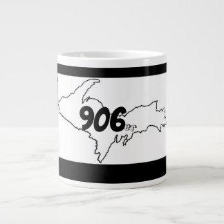 906er Michigan U.P. Jumbo Mug - noir/blanc
