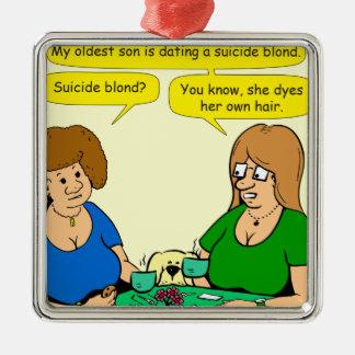 909 colorants blonds de suicide sa propre bande ornement carré argenté