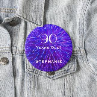 90 années ont personnalisé le bouton abstrait de badge