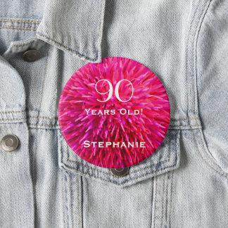 90 années ont personnalisé le Pin abstrait de Badge