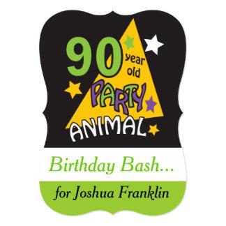 90 anniversaire du fêtard | d'ans carton d'invitation  12,7 cm x 17,78 cm