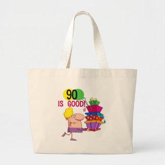 90 est de bons T-shirts et cadeaux d'anniversaire Grand Sac