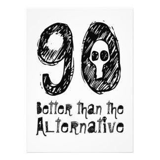 90 meilleur que l anniversaire drôle Q90 Cartons D'invitation