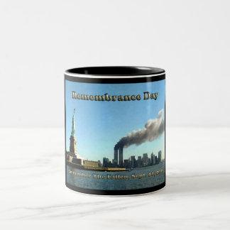 911 septembre de jour de souvenir 11, 2001 tasse 2 couleurs