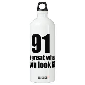 91 est grand quand vous regardez l'anniversaire bouteille d'eau en aluminium