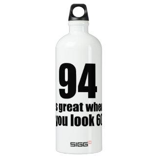 94 est grand quand vous regardez l'anniversaire bouteille d'eau en aluminium