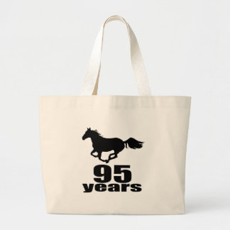 95 ans de conceptions d'anniversaire grand tote bag