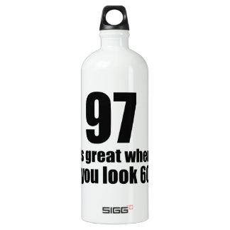 97 est grand quand vous regardez l'anniversaire bouteille d'eau en aluminium