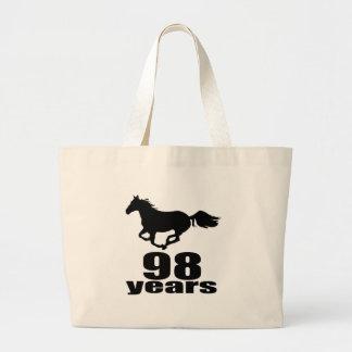 98 ans de conceptions d'anniversaire grand tote bag