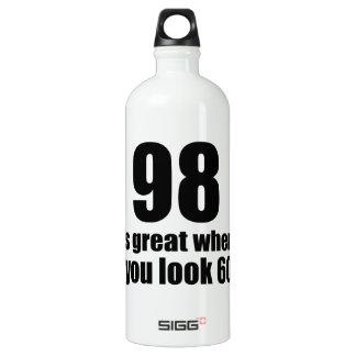 98 est grand quand vous regardez l'anniversaire bouteille d'eau en aluminium