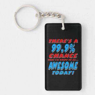 99,9% ALLER ÊTRE IMPRESSIONNANT (blanc) Porte-clefs