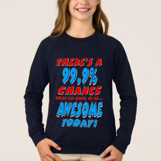 99,9% ALLER ÊTRE IMPRESSIONNANT (blanc) Sweatshirt