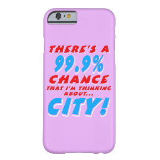 99,9% VILLE (blanche) Coque iPhone 6 Barely There