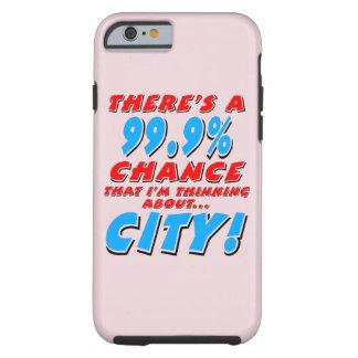99,9% VILLE (noir) Coque Tough iPhone 6
