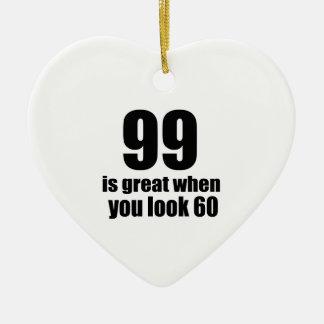 99 est grand quand vous regardez l'anniversaire ornement cœur en céramique