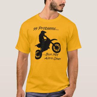 99 problèmes mais MX n'est pas un ! Noir sur T-shirt