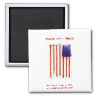 9/11 aimant de mémorial de sapeur-pompier de drape