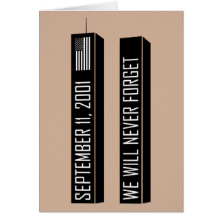 9/11 mémorial carte de vœux