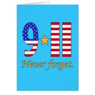 9-11 n'oubliez jamais les produits carte de vœux