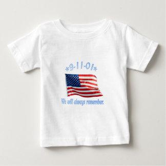 9-11 nous nous rappellerons toujours t-shirt pour bébé
