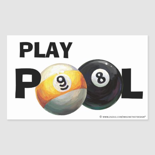 9 8 de piscine de jeu de boule autocollants de