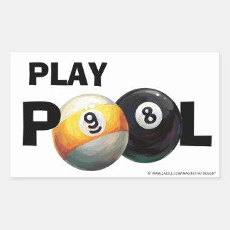 9 8 de piscine de jeu de boule autocollants de bou